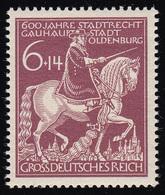 907IV Oldenburg Mit PLF IV Gebrochenes Schwert, Feld 18, ** - Abarten