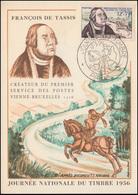 1082 Tag Der Briefmarke 1956 Auf Maximumkarte ESSt PARIS Postreiter 17.3.56 - Tag Der Briefmarke