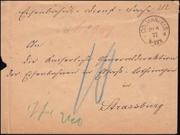 Dienstsache Kaiserliches Appellationsgericht Zu COLMAR 20.6.1877 Nach Strassburg - Berufe