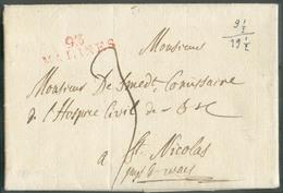 LAC (griffe Au Tampon Rouge) 93/MALINES (H.24) Le 21/12/1805 Vers St-Nicolas; Port Dû '3'.  Belle Fraîcheur.  - 15105 - 1794-1814 (French Period)