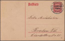 Bayern P 104 Volksstaat 10 Pf. DV 19: BAD KISSINGEN 25.7.19 Nach Breslau - Bayern