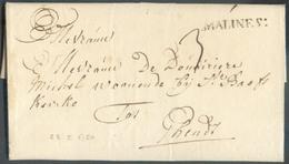 LAC (griffe Au Tampon) MALINES :  Le 23/05/1750 Vers Gand; Port Dû '3'.  Belle Fraîcheur.  - 15107 - 1714-1794 (Austrian Netherlands)