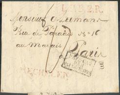 LAC (griffe Au Tampon) MECHELEN Le 23/8/1822 + Griffe L.P.B.2.R. + PAYS-BAS PAR VALENCIENNES Vers Paris; Port Dû '17'. - - 1815-1830 (Dutch Period)