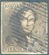 N°1 - Epaulette 10 Centimes Brune, Obl. P.25 CHARLEROI. - 15114 - 1849 Epaulettes