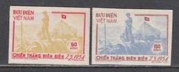 Vietnam Nord 1954/56 - Dien Bien Phu, Mi-Nr. 13B/14B, MNH** - Vietnam