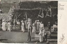 *** SAINTE LUCIE ***  The Coalyard At Castries Ste LUCIA Pli Et Micro Déchirure Timbrée 1903 - Saint Lucia