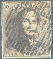 N°1 - Epaulette 10 Centimes Brune, Obl. P.62 HUY. - 15116 - 1849 Epaulettes