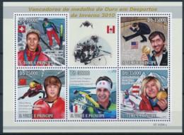 NB - [401645]TB//**/Mnh-Sao Tomé-et-Principe 2010 - Vainceurs Des Médailles D'or Des Sports D'hivers, Ski, Patinage Arti - Timbres