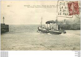 76 DIEPPE. Jetées Départ Du Steamer Rouen - Dieppe