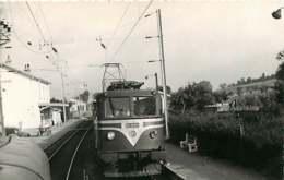 040220A TRANSPORT TRAIN CHEMIN DE FER - PHOTO BREHERET 1955 - 74 REIGNIER Vue Prise De La 13005 - Loco CC 20001 - France
