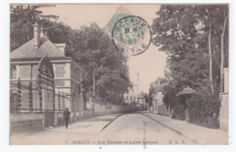 SCEAUX - Rue Houdan Et Lycée Lakanal (carte Animée) - Sceaux