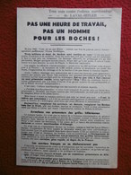 TRACT PAS UN HOMME POUR LES BOCHES TOUS UNIS CONTRE L'ODIEUX MARCHANDAGE DE LAVAL HITLER - Documents Historiques