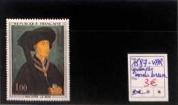 D - [816499]TB//**/Mnh-France 1969 - N° 1587v, Philippe Le Bon, Grands Bords Bruns, Variété - Errors & Oddities