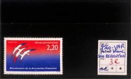 D - [816512]TB//**/Mnh-France 1989 - N° 2560v, Folon, Point Blanc Sous 'Révolution, Oiseaux, Variété - Errors & Oddities