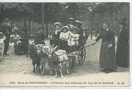 Bois De Vincennes-Voitures Aux Chèvres Du Lac De St-Mandé - Arrondissement: 12