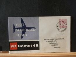 85/528  LETTER TO FINLAND  1962 1° FLIGHT BEA - 1952-.... (Elizabeth II)