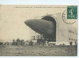 Manoeuvres De Picardie 1910-Le Dirigeable Clement Bayard N 2-La Sortie Du Hangar - Non Classés