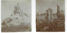 NIEUPORT (NIEUWPOORT) - Tour Saint-Laurent (Duvetorre) - 2 Photos Originales - 1919 - Oorlog, Militair