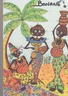 C. P. - BONANE - 1998 - LA VIE AU VILLAGE - 10 - LIBREVILLE -F. G. - 3 AFRICAINES - Gabón