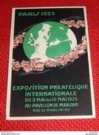 PUBLICITE  -  PARIS 1925  - Exposition Philatélique Internationale Au Pavillon Marsan - Advertising