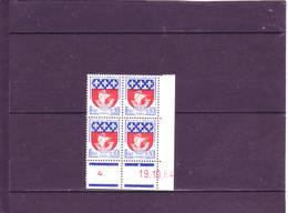 N° 1354B - 0,30 Blason De PARIS - D De C+D - 1° Tirage/1° Partie Du 6.10 Au 4.11.64 - 19.10.1964 - - Dated Corners