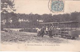 BAC19-  ENVIRONS D'ARCACHON   EN GIRONDE LE TRAMWAY DU PHARE    CPA  CIRCULE - Arcachon