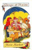 Peeps At Pixies Market Postcard - Altre Illustrazioni