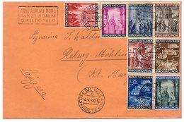 """1950 Vaticano Serie Completa """"Anno Santo"""" Viaggiata Verso La Svizzera - Cartas"""