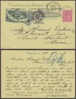 """FRANCE Yv 1904 SUR CARTE PUBLICITAIRE """"MACHINE AGRICOLE """" DE TRIAUCOURT 29/11/1904  (DD) DC-6502 - 1903-60 Semeuse Lignée"""