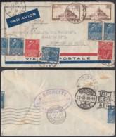 FRANCE Yv 260 X2+272 X2+273  SUR LETTRE  PAR AVION DE PARIS 11/07/1931 VERS SANTIAGO DU CHILI  (DD) DC-6507 - 1927-1959 Storia Postale