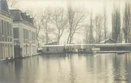 POISSY - Inondations 1910, Garage Clayes Location De Bateaux,carte Photo Robarday. - Poissy