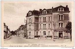 SEGRE  Hôtel De La Gare   Raoul LEVASSEUR  Location D'automobiles   2 Scans   TBE - Segre