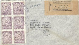 Paraguay 1953 Ascension Armory Registered Cover - Paraguay