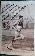 ATHLETISME COURSE A PIED LADOUMEGUE PUBLICITE POUR SEMELLES DE CUIR  FAC SIMILE DE SIGNATURE - Athletics