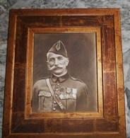 Grand Portrait Encadré D'un Colonel De La 1ere Guerre Mondiale - 1914-18