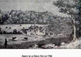 25 Abbaye De La GRACE DIEU En 1788, Reproduction, Carte Moderne - France
