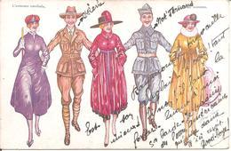 CPA Illustrateur Xavier SAGER - L'Entente Cordiale (Amitié Franco-Américaine De X. SAGER) En 1918 - Sager, Xavier