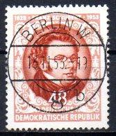 """(DDR-BM1) DDR """"125. Todestag Von Franz Schubert"""" Mi 404 Sauber Bedarfsgestempelt - [6] Democratic Republic"""