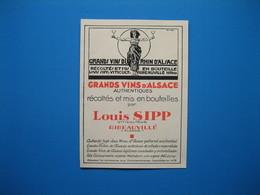 (1931) Grands Vins D'Alsace - LOUIS SIPP - Ribeauvillé (Haut-Rhin) - Advertising