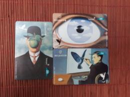 SET Réne Magritte Art 3 Phoneards Used Rare - Belgique