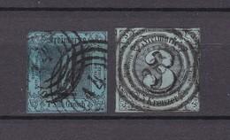 Thurn Und Taxis - 1853 - Michel Nr. 11/12 - Gest. - 36 Euro - Tour Et Taxis