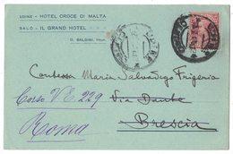IZ62   Regno 1917 - Cartolina Postale UDINE HOTEL CROCE DI MALTA - Marcofilía