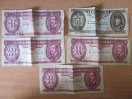 Hongrie / Magyar Nemzeti Bank - 5 Billets 50 Et 100 Forint - 1969 à 1984 - Hongrie