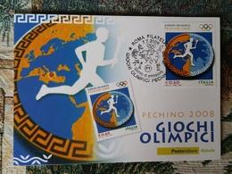 Italia Fdc Maximum Card 2008 Giochi Olimpici Pechino 0,60 ROMA - Cartes-Maximum (CM)