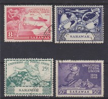 SARAWAK 1949 UPU SET  FINE USED Cat £11 - Sarawak (...-1963)