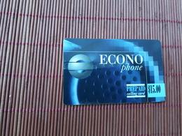 Econo Phone 15 $  Belgium Used 2 Scans Used Rare - Cartes GSM, Recharges & Prépayées