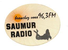 A.C SAUMUR RADIO Branchez-vous 96,3 FM - Aufkleber