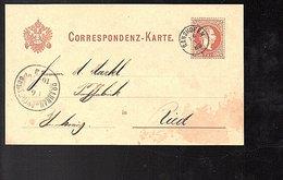 1883 RANSHOFEN Gutsverwaltung  Ferdinand Wertheimer 1885 > BRAUNAU Ried (730) - Covers & Documents