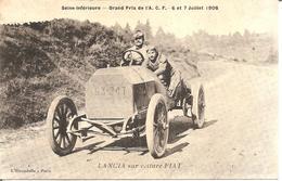 Seine-Inférieure - Grand Prix De L'A.C.F. 6 Et 7 Juillet 1908 - LANCIA Sur Voiture FIAT - Autres
