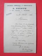 Carte Postale,Entier Postal Type MOUCHON 10c écrite E.POINTU à NEVERS (58) Le 19/08/1904 Oblitérée NEVERS, PREMERY (58) - Entiers Postaux